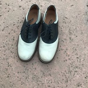 Johnston & Murphy Passport shoes off white & black